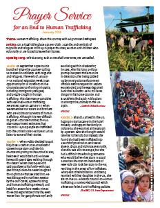 2018 Human Trafficking Prayer - English