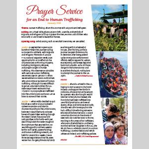 2018 Human Trafficking Prayer